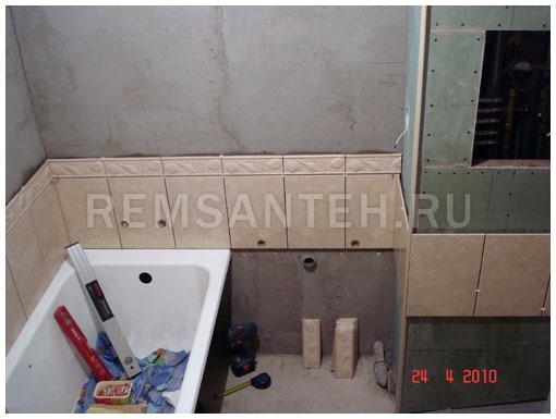 Ремонт ванны своими руками укладка плитки