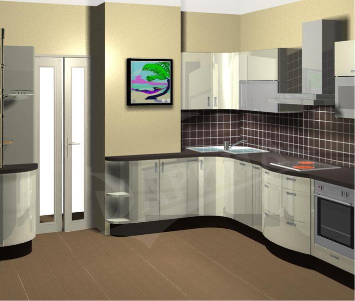 Дизайн кухни 10 кв.м с вентиляционным коробом