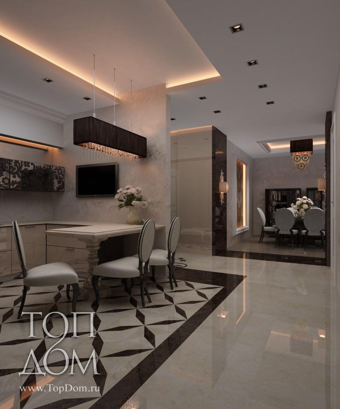 Зал-кухня дизайн
