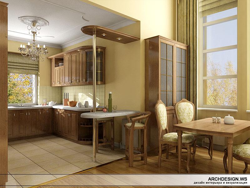 Дизайн столовой и кухни